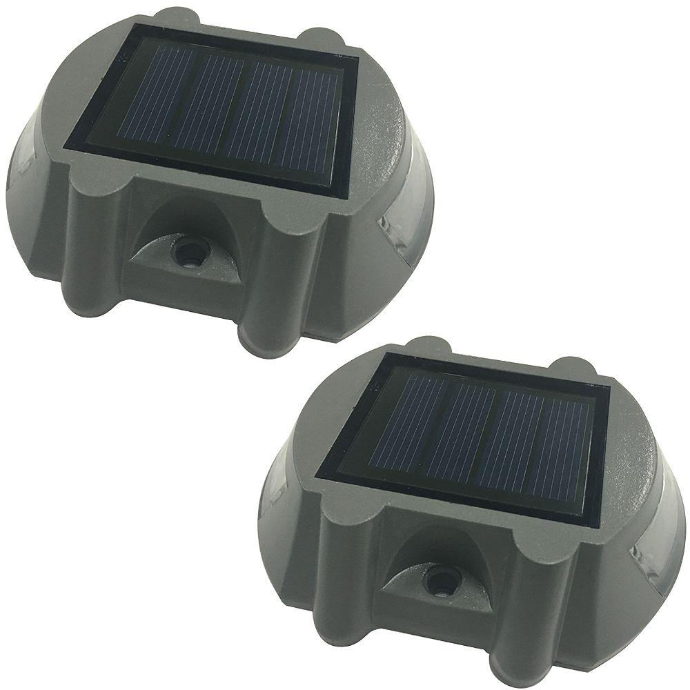 Hampton Bay 5 Lumen Solar Integrated LED Deck Lights (2-Pack)