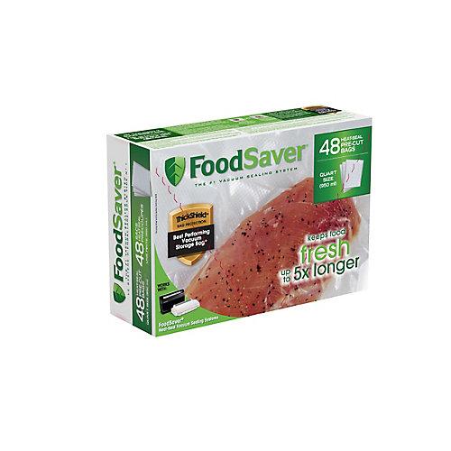 Sacs thermoscellables FoodSaver de 0,95 L - lot de 48