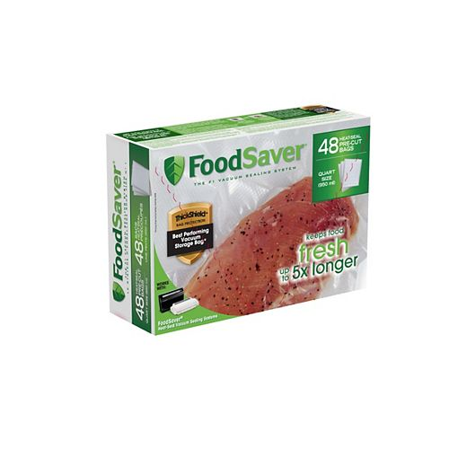 Sacs thermoscellables FoodSaver de 0,95 L - lot de 48
