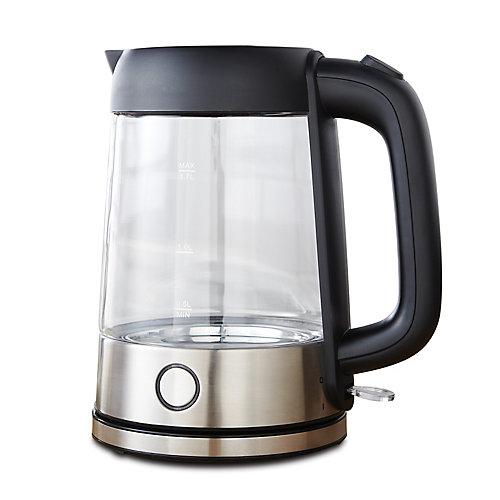 Bouilloire lumineuse en verre Oster de 1,7 litre (noir)