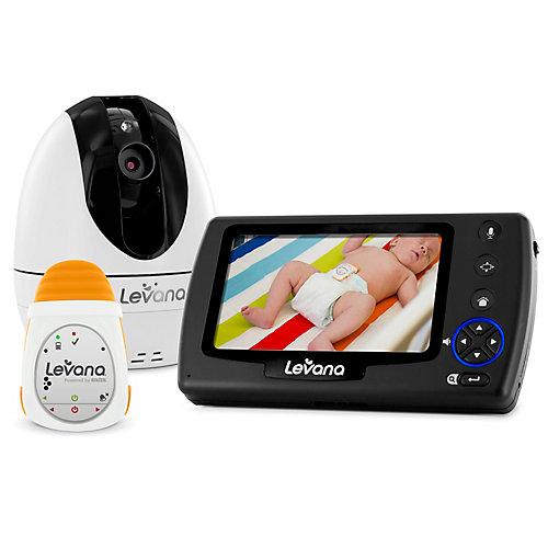 LEVANA Ovia Moniteur vidéo bébé numérique avec  alimenté par Snuza Oma Moniteur de mouvement bébé mobile