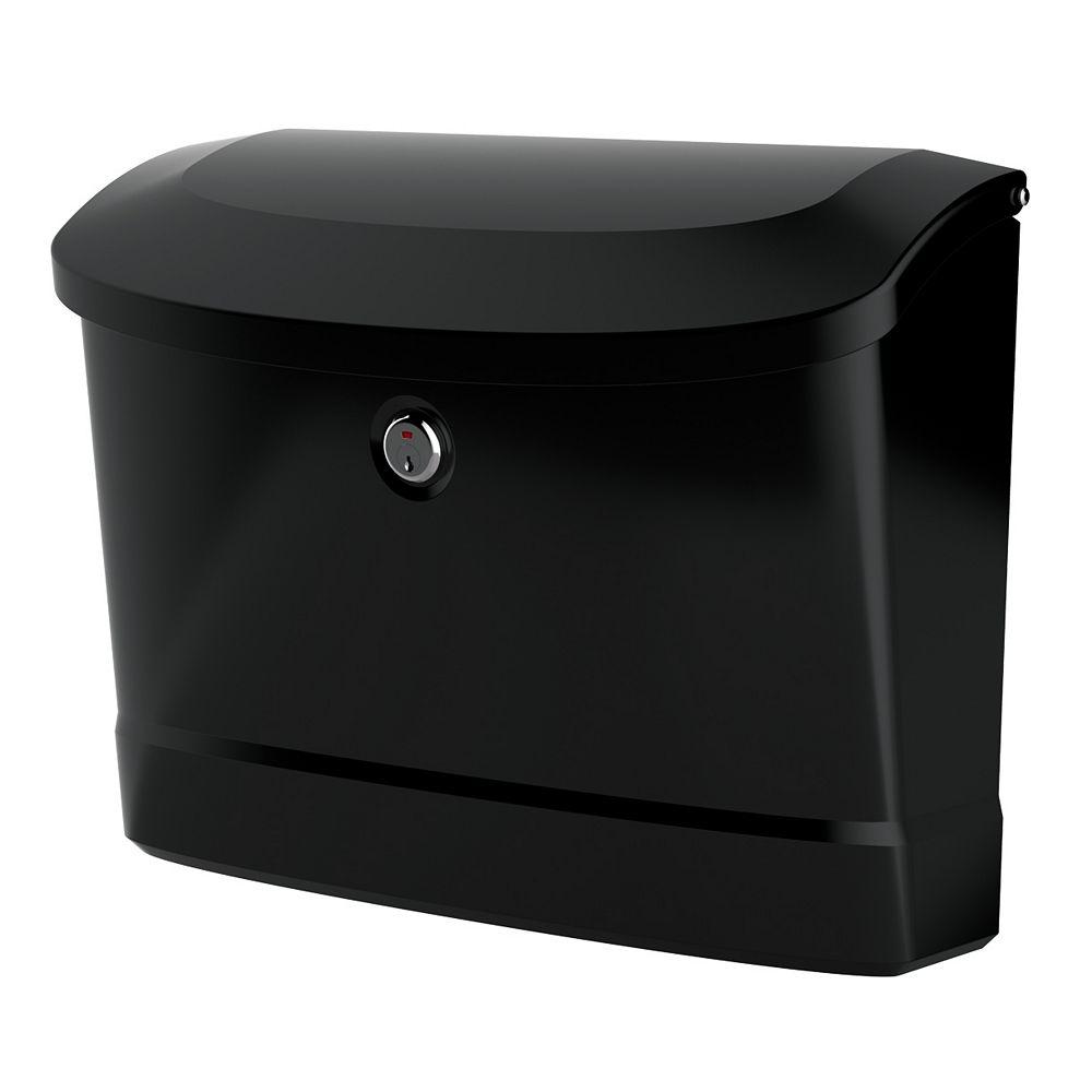 Architectural Mailboxes Boîte aux lettres murale noire Princeton avec serrure
