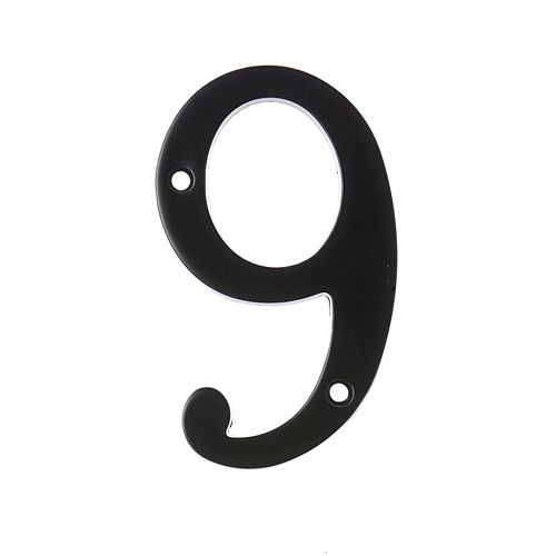 6-inch Black House Number 9 - 1pc
