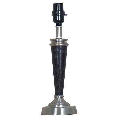 Hampton Bay Metal And Faux Wood Accent Lamp Base