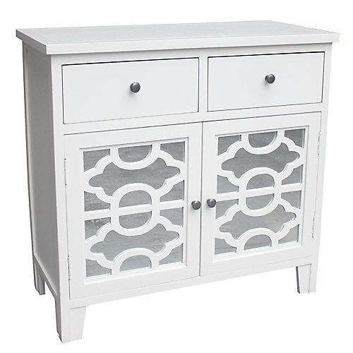 Bristol-cabinet à 2 tiroirs-blanc