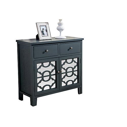 Bristol-2 Drawer Cabinet-Black
