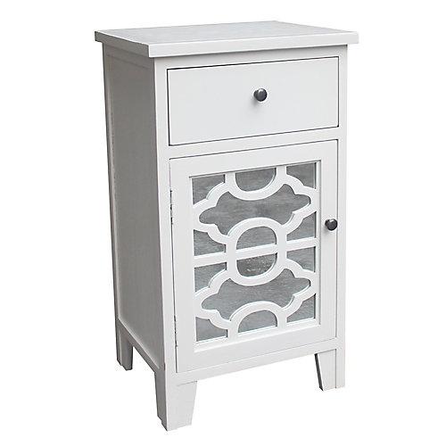 Bristol-1 Drawer Cabinet-White
