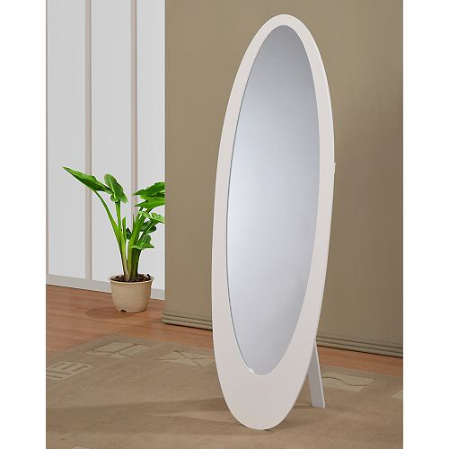 Infinity II-Cheval Mirror-White