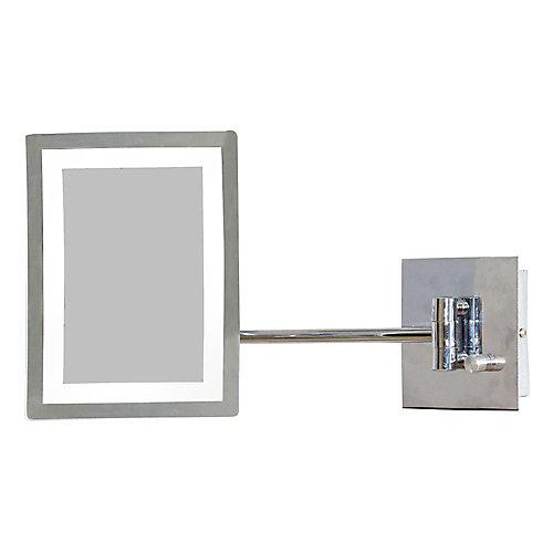 6,25 po. W x 8.5 po. Miroir H Rectangle LED avec variateur de lumière et 3x Zoom