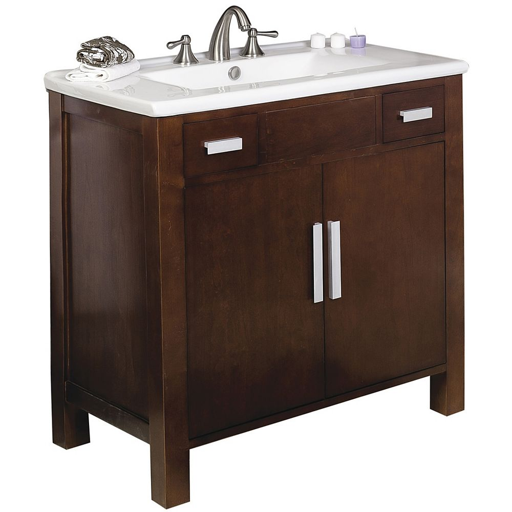 American Imaginations 36-inch W Vanity in Brown