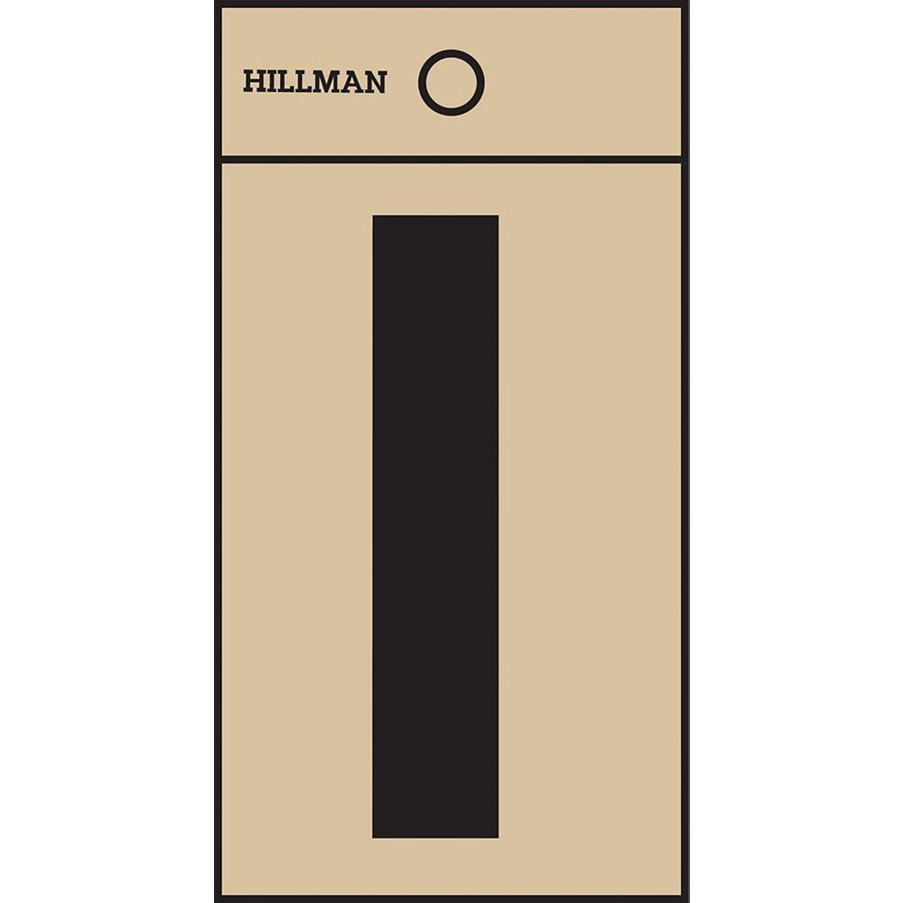 Hillman 2 Inch Black & Gold Mylar Sticker I