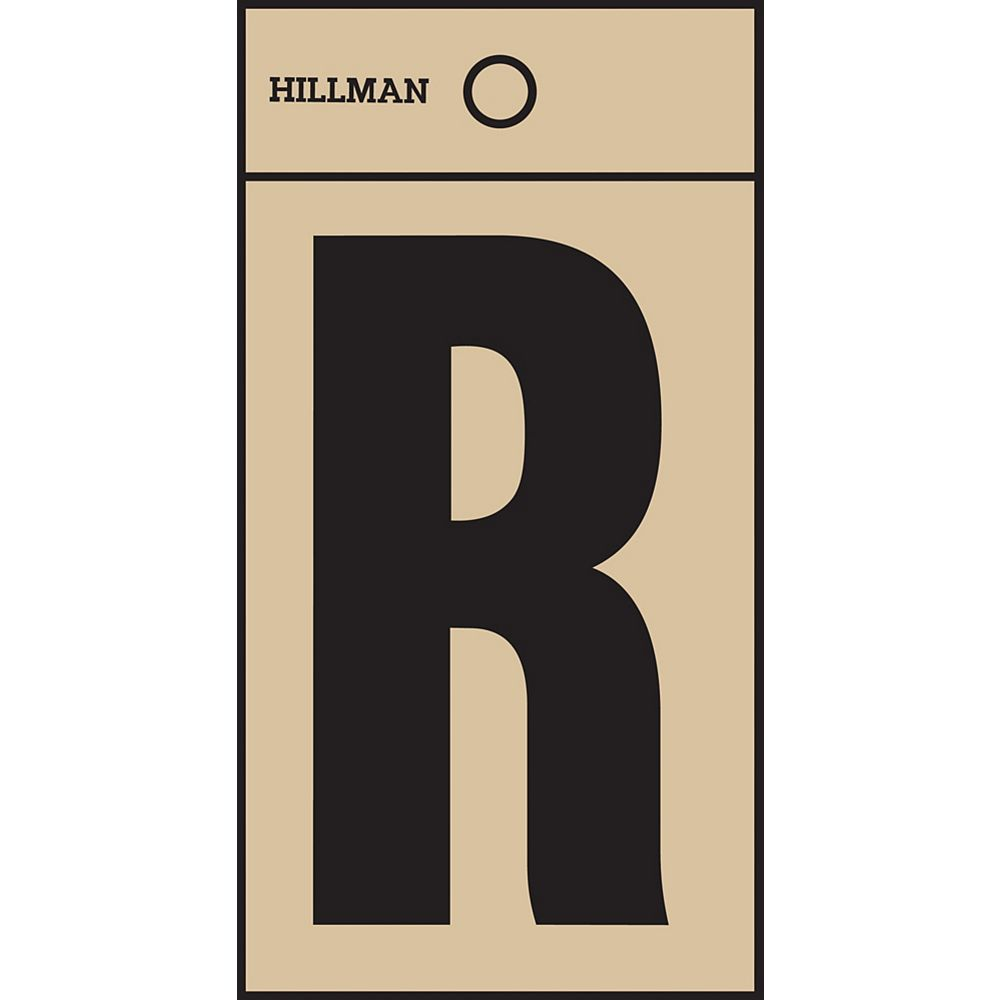 Hillman 2 Inch Black & Gold Mylar Sticker R