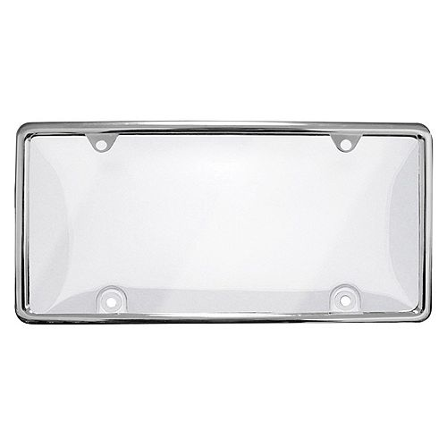 GO ON License Plate Cover with Chrome Frame