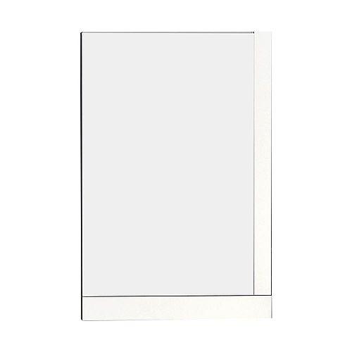 American Imaginations 24 po. W x 32 po. H massif contreplaqué fini miroir avec un style moderne Mélamine Dans Fini Brillant Blanc