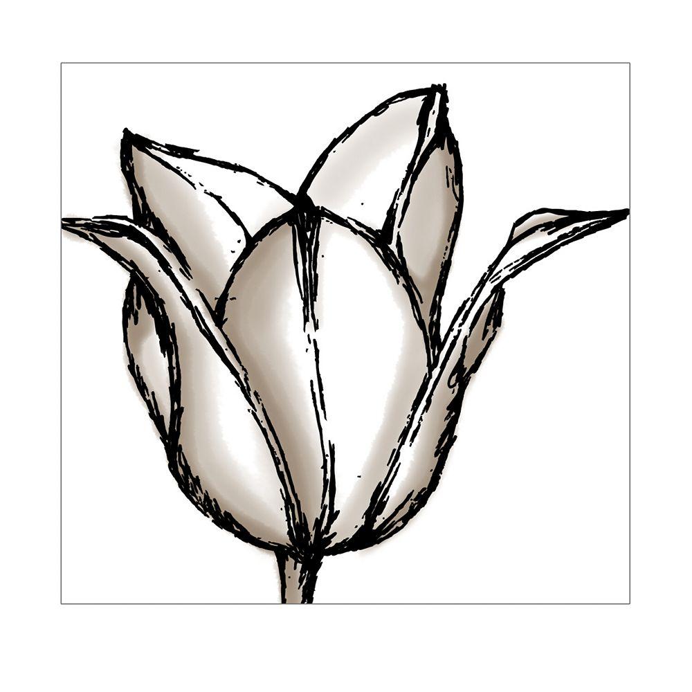 nexxt PN19687-4 -Toile décorative de la série Shutter, Tulipe sauvage
