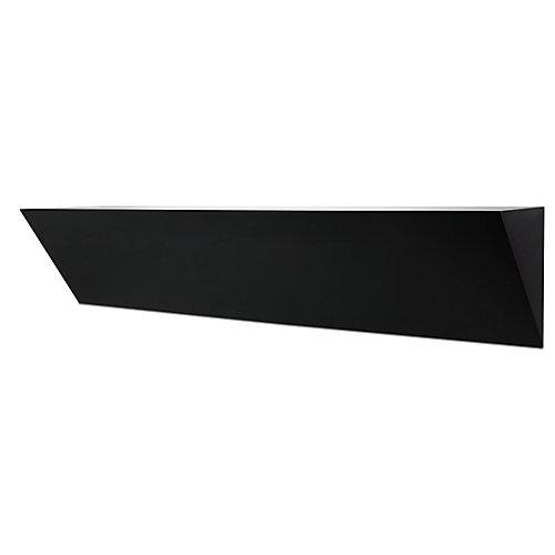 Nexxt, grande étagère murale de bois, fini noir, en saillie. Dimensions: 7 x 36 x 5po.