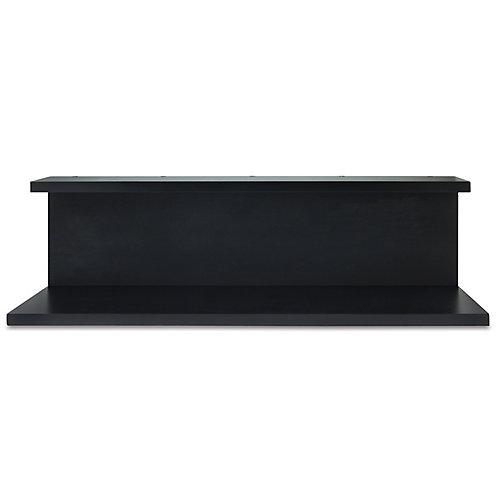 Nexxt, étagère murale Noto, de couleur noire, avec tableau. Dimensions: 6,75 x 24 x 6po