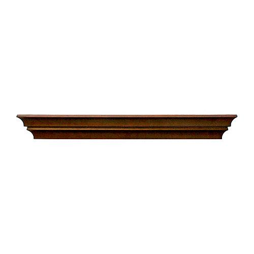 FN17558-9 Étagère moulée de bois plein de la série Leigh, fini ébénisterie de 24 x 2,75 x 4,5po