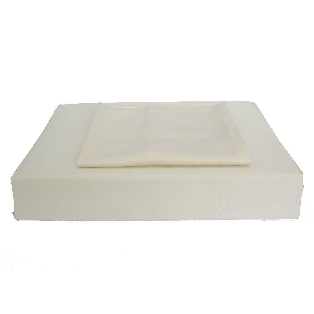 Maholi Bamboo Solid - Ensemble de housse de couette, beige, lit 2 places