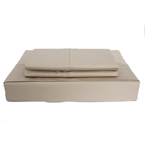 310TC Bamboo Solid Sheet Set, Taupe, King