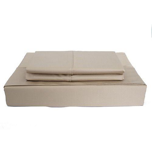 Bamboo Solid - Ensemble de draps, taupe, très grand lit