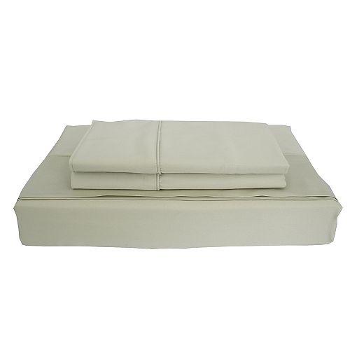 Bamboo Solid - Ensemble de draps, sauge, très grand lit