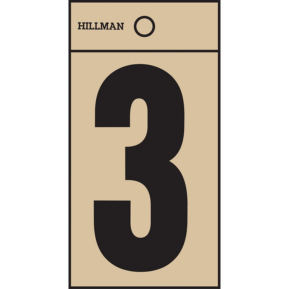 Hillman 2 Inch Black & Gold Mylar Sticker 3