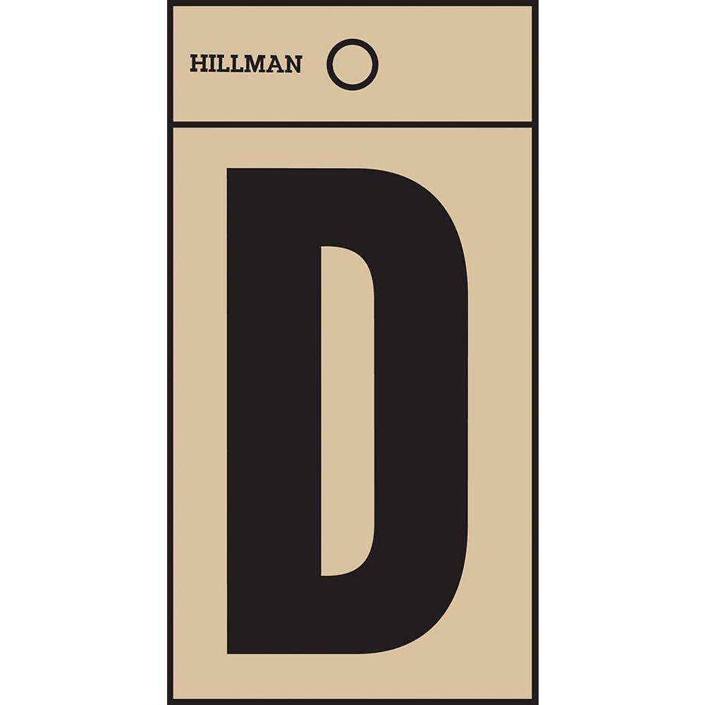 Hillman 2 Inch Black & Gold Mylar Sticker D