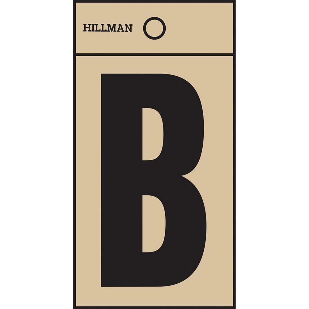 Hillman 2 Inch Black & Gold Mylar Sticker B
