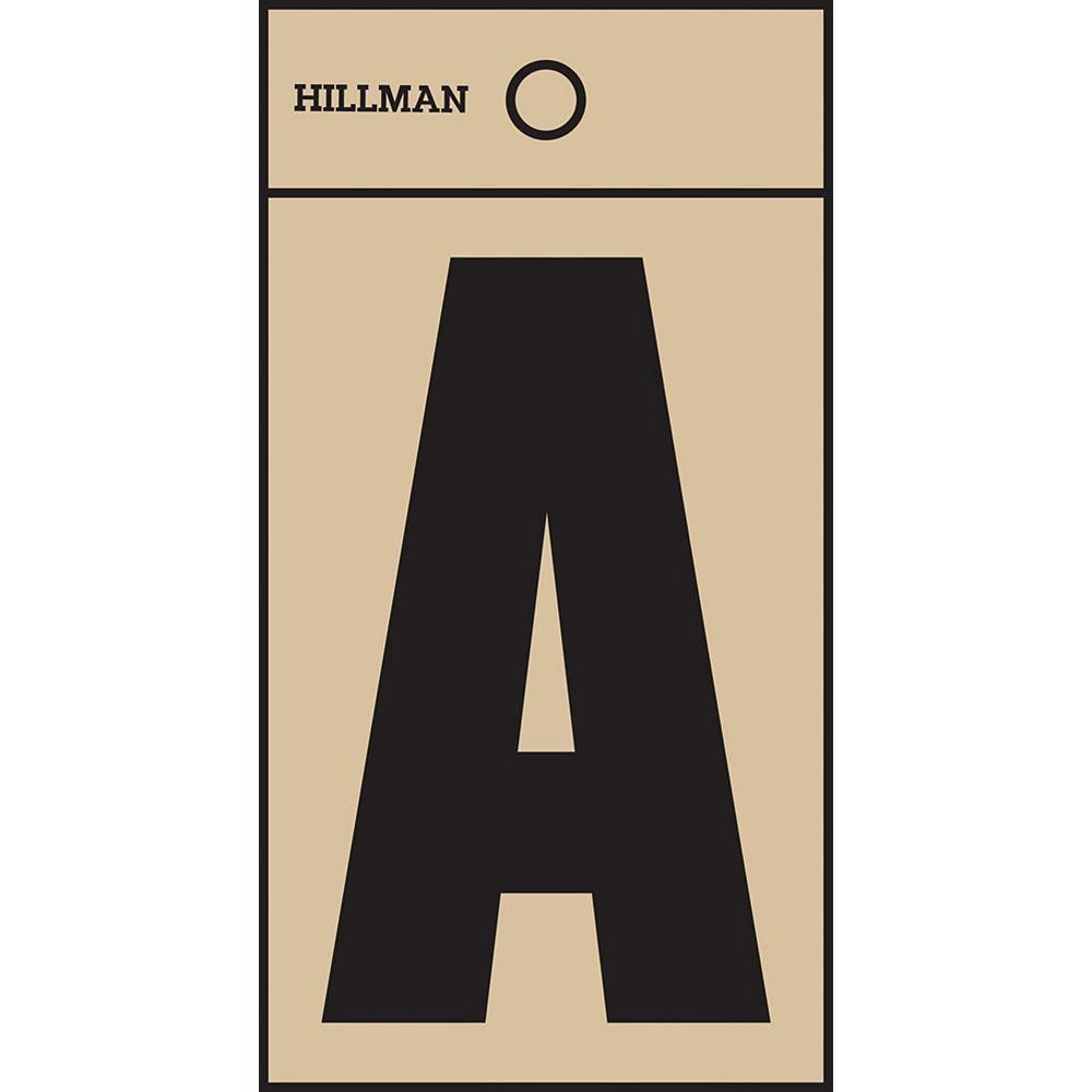 Hillman 2 Inch Black & Gold Mylar Sticker A