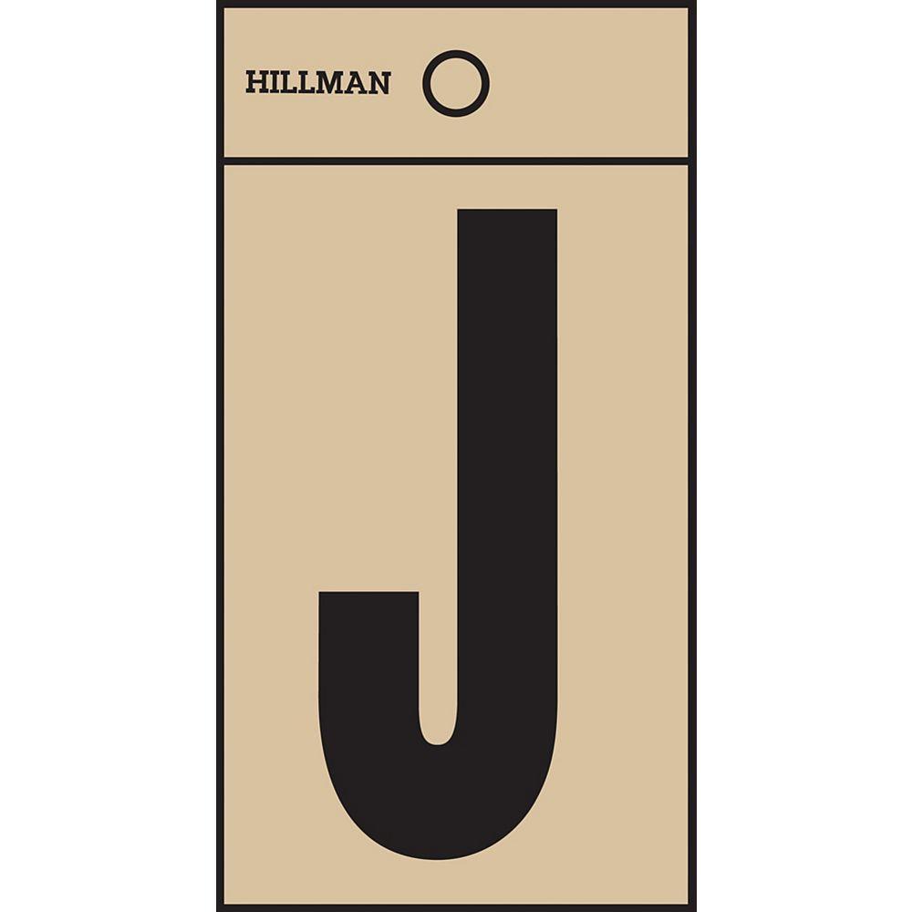 Hillman 2 Inch Black & Gold Mylar Sticker J