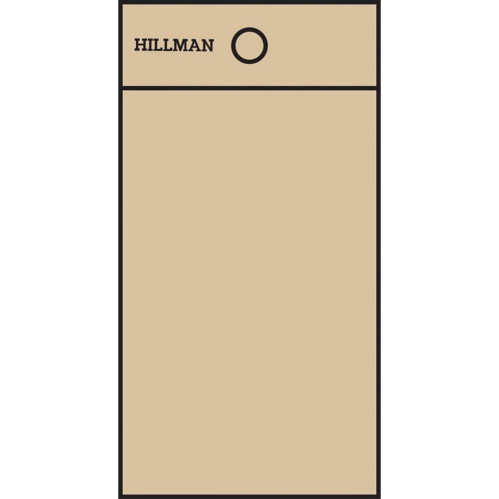 Hillman 2 Inch Black & Gold Mylar Sticker Blank