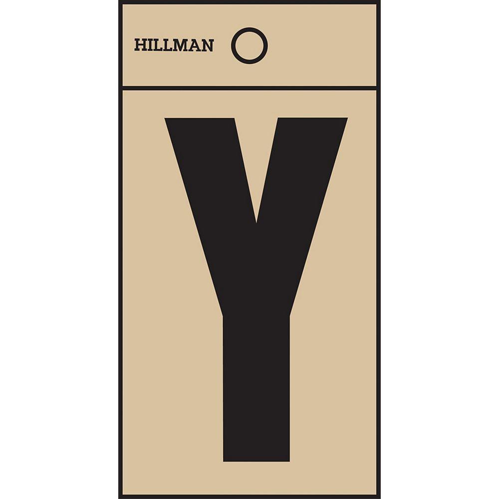 Hillman 2 Inch Black & Gold Mylar Sticker Y
