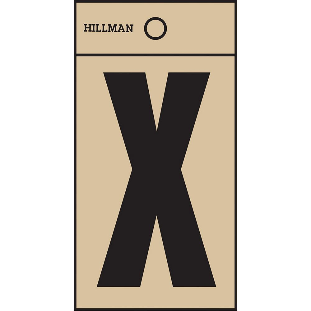 Hillman 2 Inch Black & Gold Mylar Sticker X
