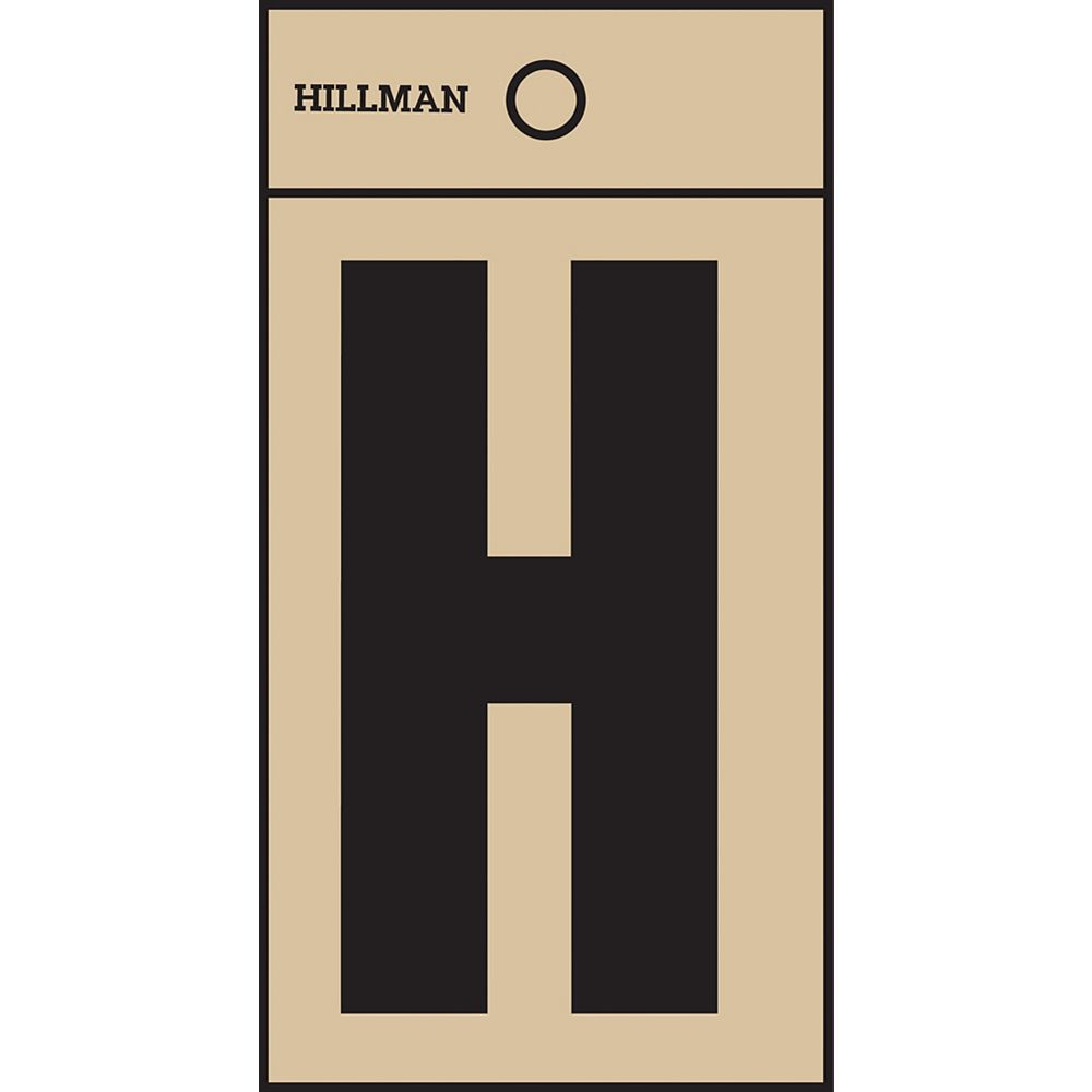 Hillman 2 Inch Black & Gold Mylar Sticker H