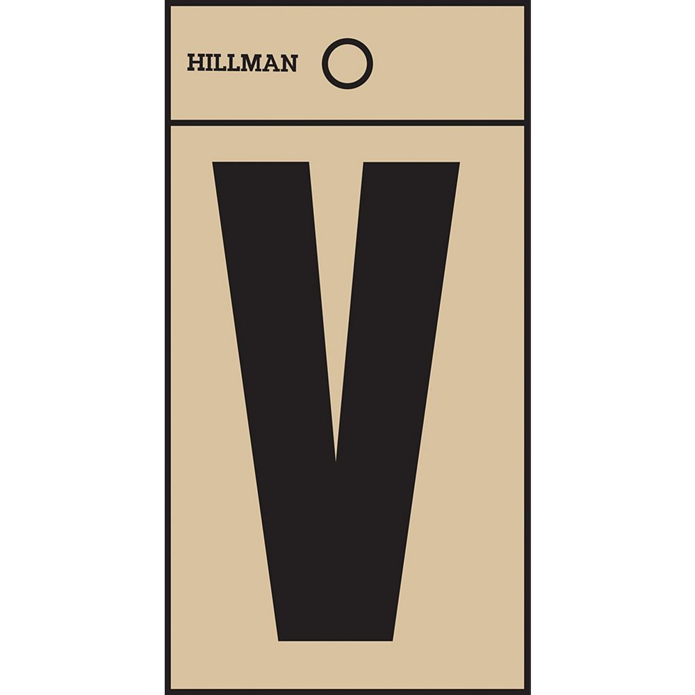 Hillman 2 Inch Black & Gold Mylar Sticker V