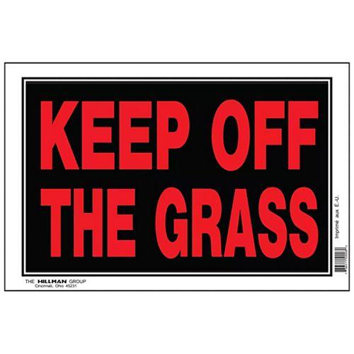 """Panneau """"Ne pas toucher à l'herbe"""" - 1pc"""