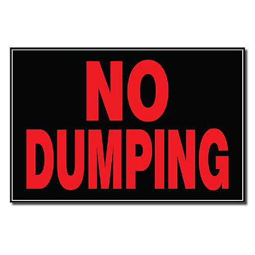 Affiche 8 X 12 - No Dumping