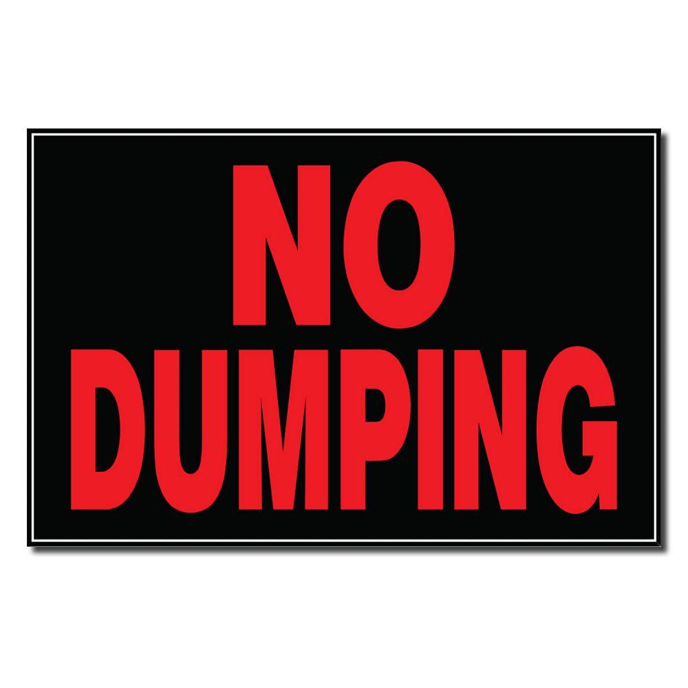 Hillman 8 X 12 Sign - No Dumping