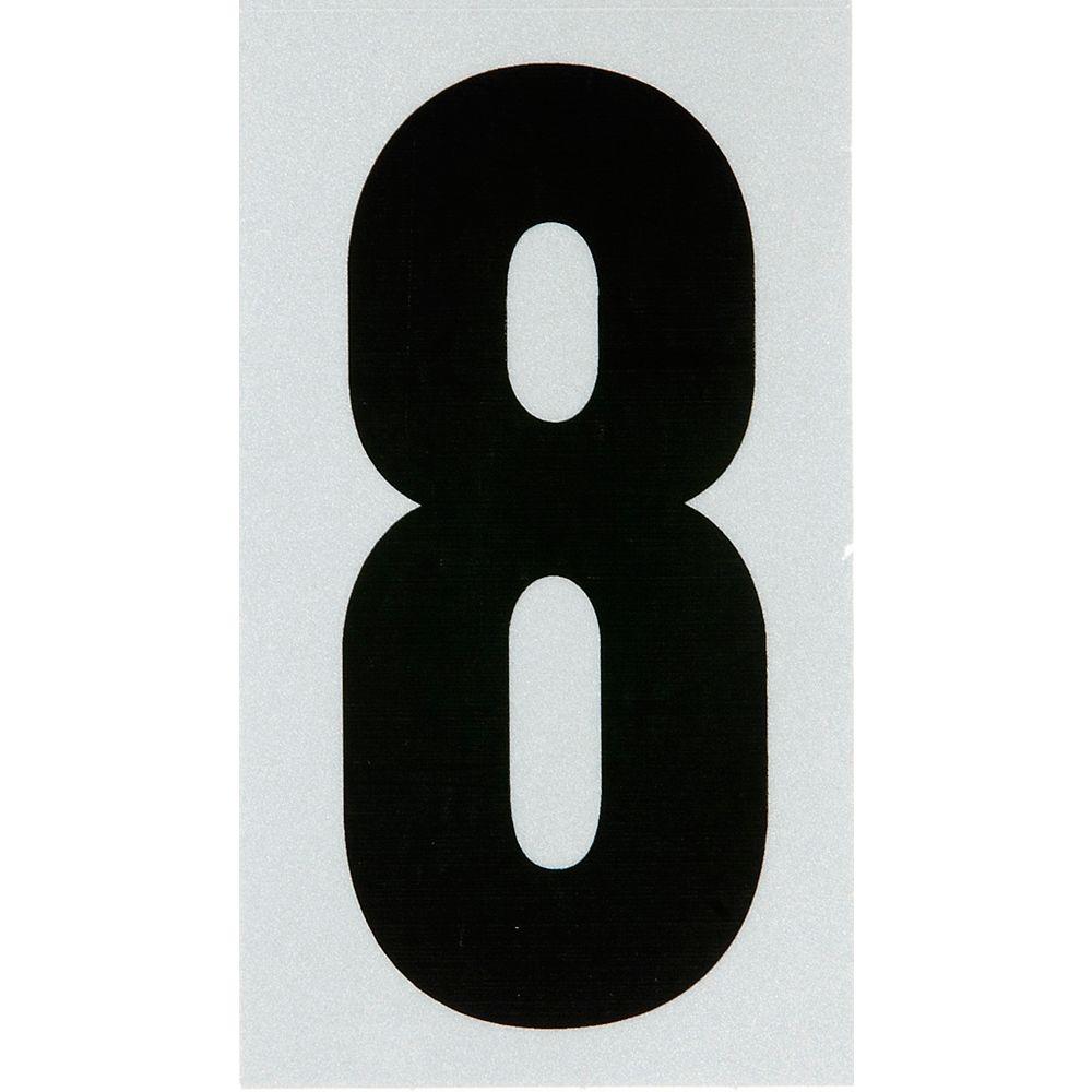 Hillman 3 Inch Black & Silver Reflec Mylar 8