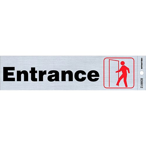 Hillman 2x8 Sign - Entrance
