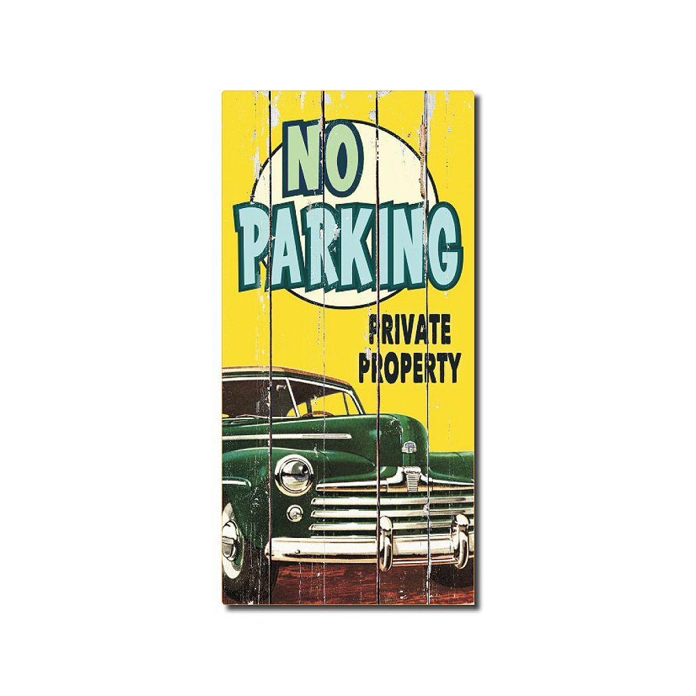 Hillman Affiche Style Rustique En Bois  - No Parking