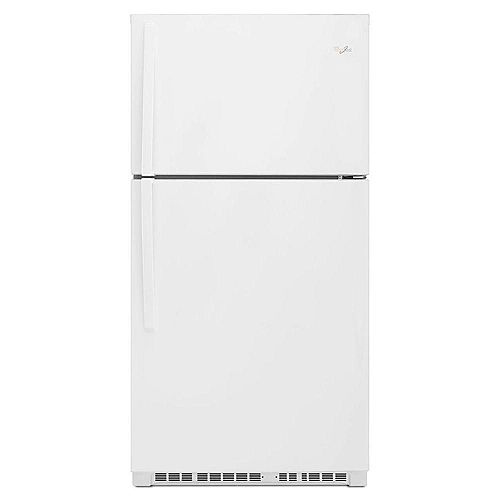 Whirlpool 33-inch W 21.3 cu. ft. Top Freezer Refrigerator in White - ENERGY STAR®