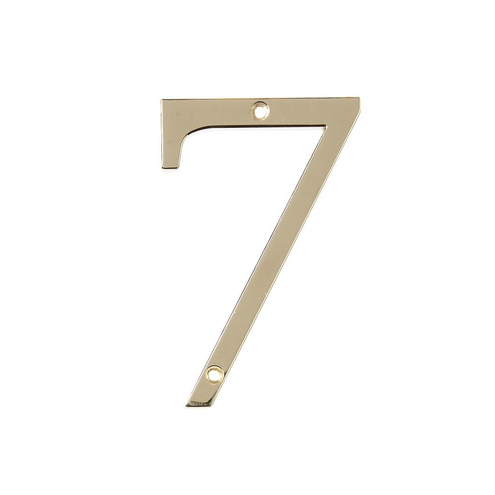 Hillman 4 Inch Brass House Number 7