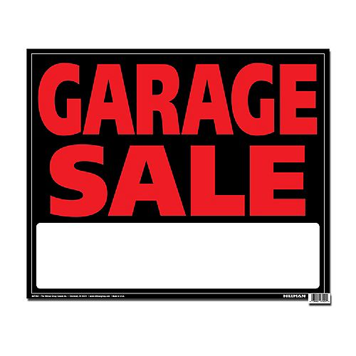 19 X 24 Jumbo Sign - Garage Sale