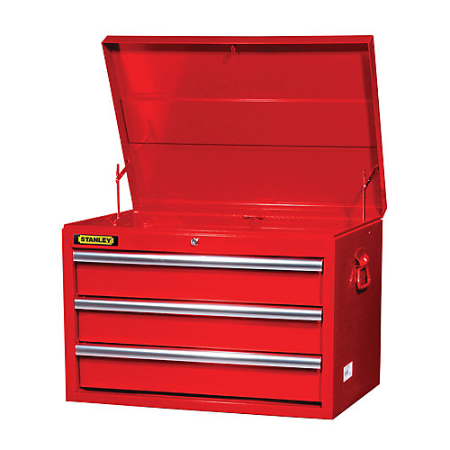 27 Inch 3 drawer Top Chest, Red