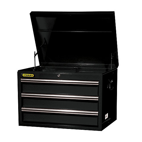 27-inch 3-Drawer Top Chest in Black
