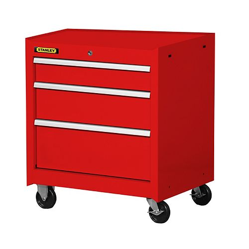 27-inch 3-Drawer Cabinet in Red