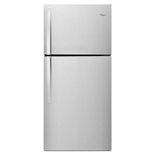 30-inch W 19.2 cu. ft. Top Freezer Refrigerator in Monochromatic Stainless Steel - ENERGY STAR®