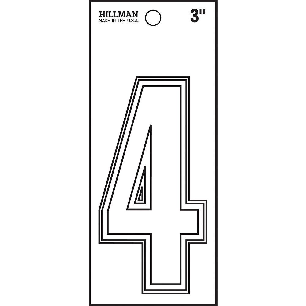 Hillman 3 Inch White Die Cut Vinyl #4